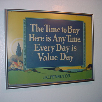 Early J.C. Penney Sign - Advertising