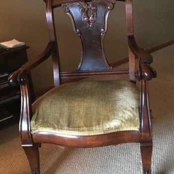 My antique chair - does anyone know anything about this style of chair?