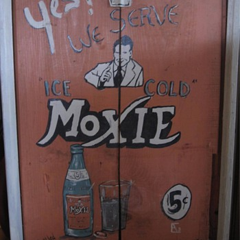 Old Moxie Sign - wooden - Signs