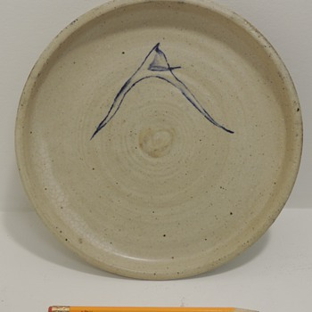 Stoneware Dish marked on back