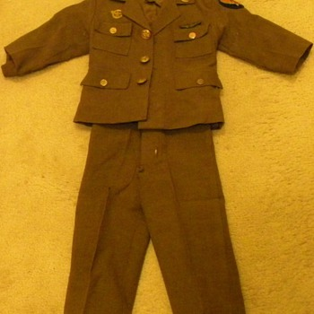 Vintage Child's Military Uniform