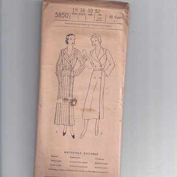 "E3158 EXCELLA PATTERNS   1930""? - Sewing"