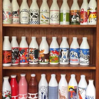Italian Egizia Milk Bottles