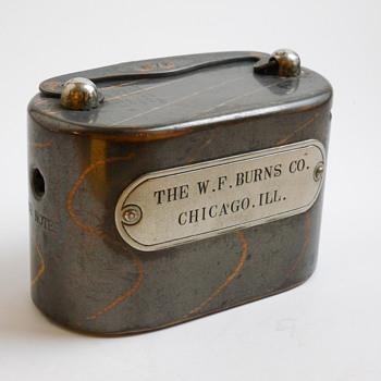 "Company Salesman Steel Bank ""W.F.Burns,Chicago,Illinois, Circa 1910   - Coin Operated"