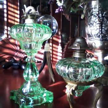 Beautiful Glass Kerosene Oil Lamps