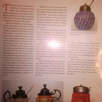 Shaker Collecting Articles - Art Glass