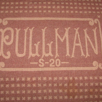 VINTAGE PULLMAN TRAIN WOOL BLANKET