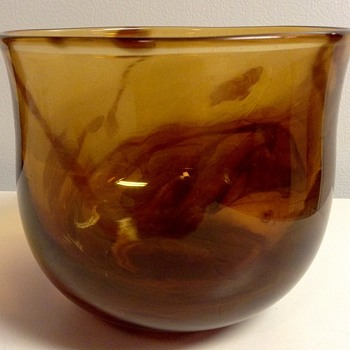 Glass Bowl Signed by Sharon Oleksiak