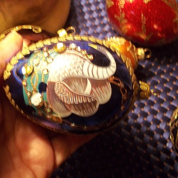Gorgeous Glass Hand painted Christmas Ornaments-