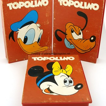 "Vintage Donald Duck, Minnie Mouse, & Pluto ""Topolino"" Watches w/ Boxes - Wristwatches"