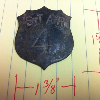 Star 4 Badge - Railroadiana