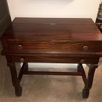 Walnut Spinet Top Desk w/Cabriole Legs