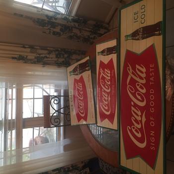 NOS 1950's Coca Cola signs - Coca-Cola