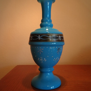 ANTIQUE BOHEMIAN  GLASS VASE  - Art Glass