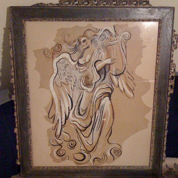 Neoclassical, Art Deco original art painting