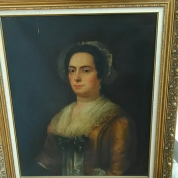 Goodwill Find! Large Oil Painting of Dutchess but who? - Visual Art