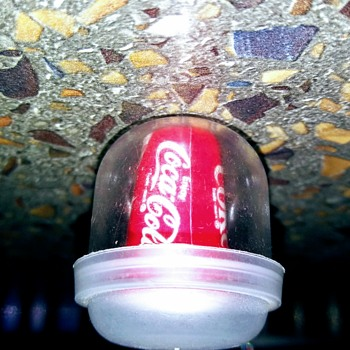 Mini Coca-Cola Can in Original Vending Bubble