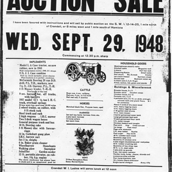 Auction Sale Poster