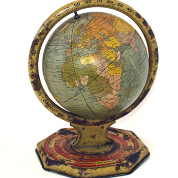 1930's metal world globe
