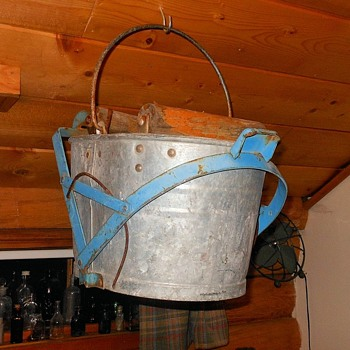 Vintage Mop Bucket with Wringer