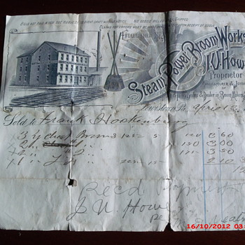 Another from my local items collection, a receipt from 1894 - Paper