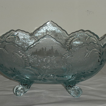 Aqua Footed Bowl - Glassware
