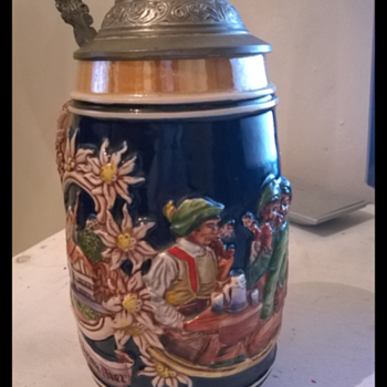 German Bier Stein Pewter mug