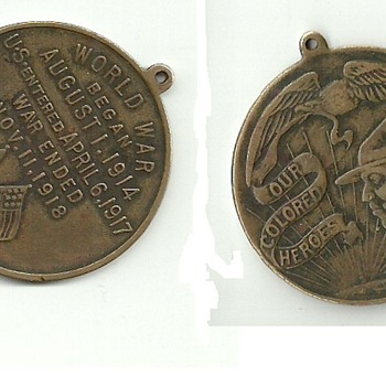 "WWI ""Our Colored Heroes"" Medal"