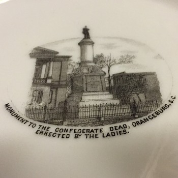 Orangeburg SC Confederate Monument Commemorative Plate