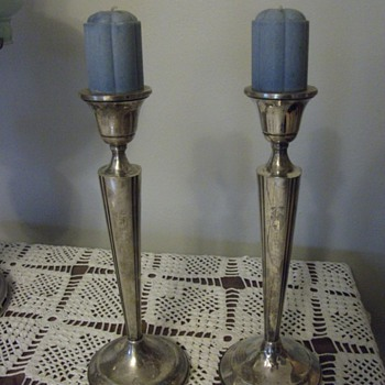 Candle Holders, filled with cement? - Sterling Silver