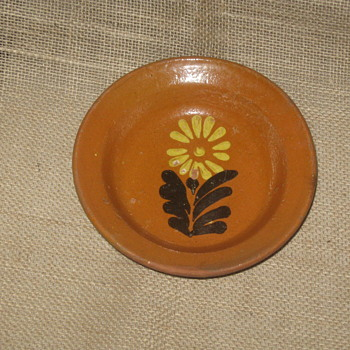 18th Century Redware Slip Bowl