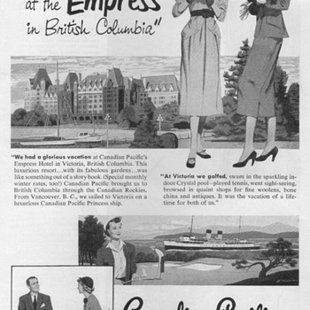 1951 - Canadian Pacific Cruise Line Advertisements