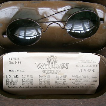 Willson Goggle Sunglasses/Safety Glasses 1919 - Military and Wartime