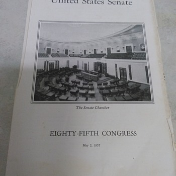 UNITED STATES  SENATE PAMPHLET - Paper