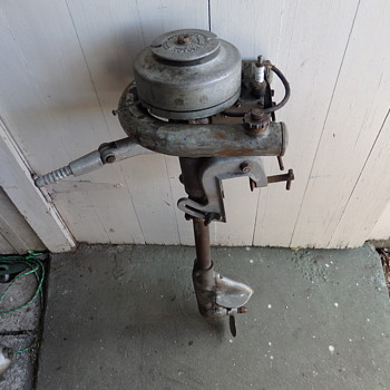 old Johnson outboard motor.