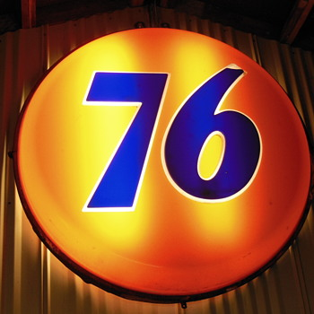 Old 76 sign - Petroliana