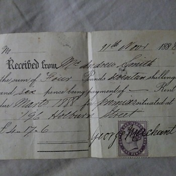 very old document from early 1900s - Paper