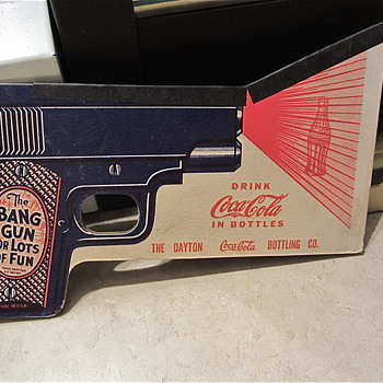 Coca Cola 1930s paper BANG gun - Coca-Cola