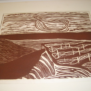 Woodcut print