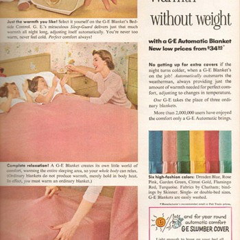 1955 - Gen. Elec. Heated Blanket Advertsement - Advertising