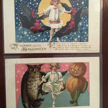 Smuckner/ Winsch Halloween postcards