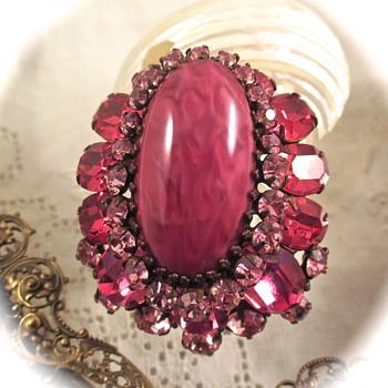 Vintage Schreiner Brooch - Costume Jewelry