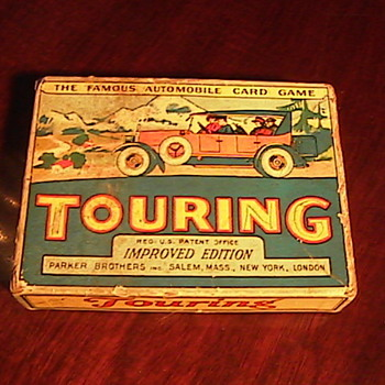 Todays Thrift Store Find! Touring Famous Automoble Card Game 1926 - Games