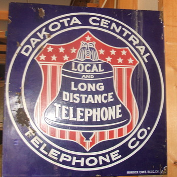 Dakota Central Telephone Co. Porcelain Sign