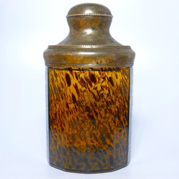 Bohemian Oil Spot, Cookie Jar, Circa Early 1900 - Art Glass