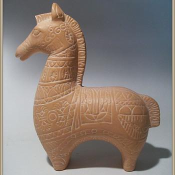 Ceramic Horse (....In the style of Bitossi... )
