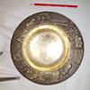 Bronze art nouveau/deco plate - identification help