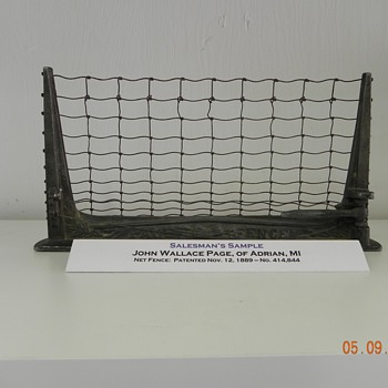 NET FENCE - SALESMAN'S SAMPLE - Advertising