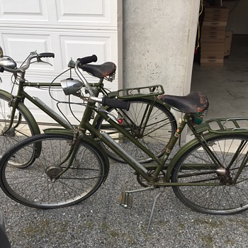 The Raleigh  Nottingham England 3-speed his and hers Bicycles