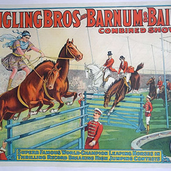 Leaping Horses - Ringling Bros and Barnum &amp; Bailey c.1929